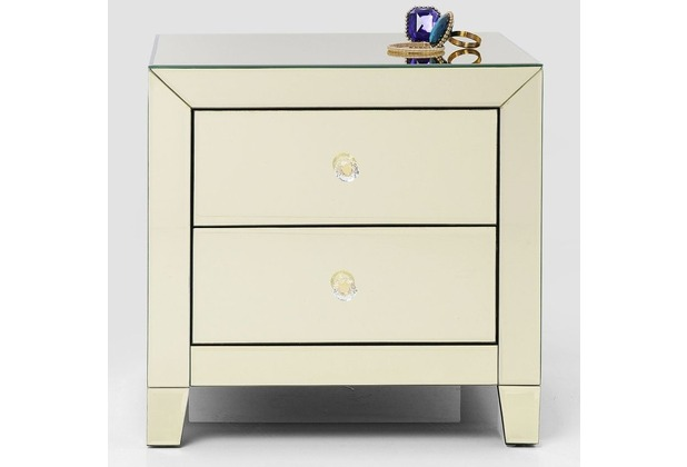 Kare Design Kommode Klein Luxury Gold 2 Schube Hertie De