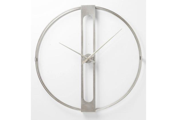 Kare Ø60cm Wanduhr Silber Design Clip ZwPXukOiT