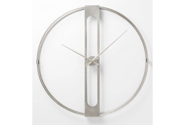 Wanduhr Ø60cm Silber Kare Design Clip lF1cTJK3