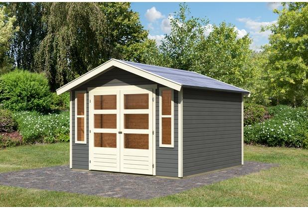 karibu auburg 7 gartenhaus inkl t rversion modern 19 mm. Black Bedroom Furniture Sets. Home Design Ideas