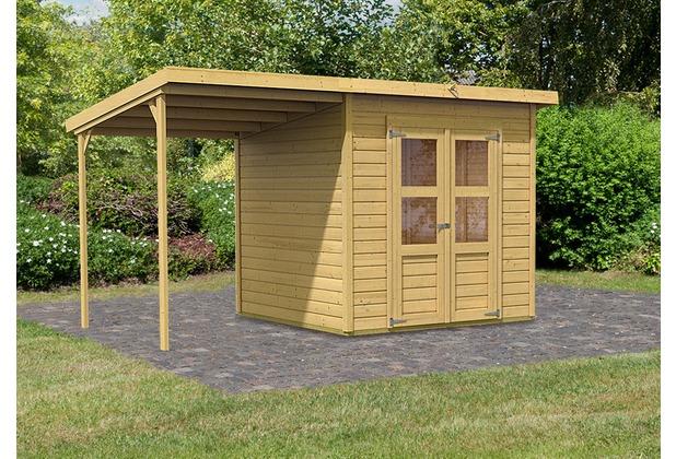 Gartenhaus Ohne Fußboden ~ Karibu merseburg gartenhaus im set mm pultdach im steck und