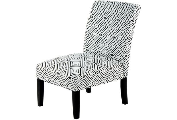 Kayoom Stuhl Indira 110 Schwarz Weiß