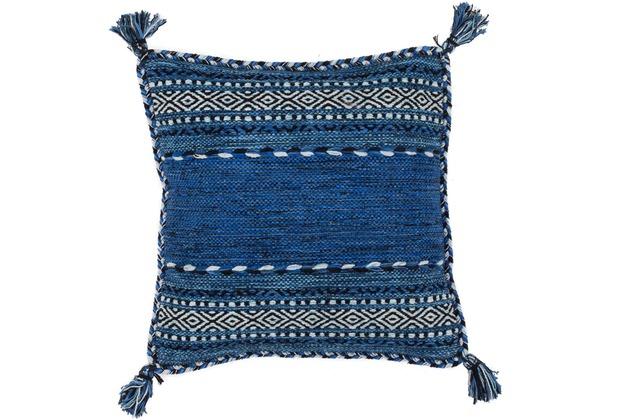 Kayoom Sofakissen Alhambra Pillow 335 Blau 45cm X 45cm Hertiede