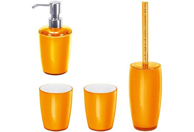 kleine wolke badaccessoires set joker orange bestehend aus seifenspender wc garnitur 2x. Black Bedroom Furniture Sets. Home Design Ideas