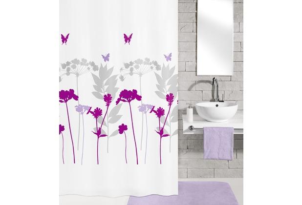 kleine wolke duschvorhang barcelona beere 180 x 200 cm. Black Bedroom Furniture Sets. Home Design Ideas