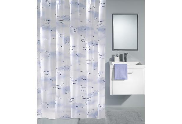 kleine wolke duschvorhang sky polarblau. Black Bedroom Furniture Sets. Home Design Ideas