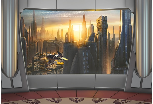 komar fototapete star wars coruscant view. Black Bedroom Furniture Sets. Home Design Ideas