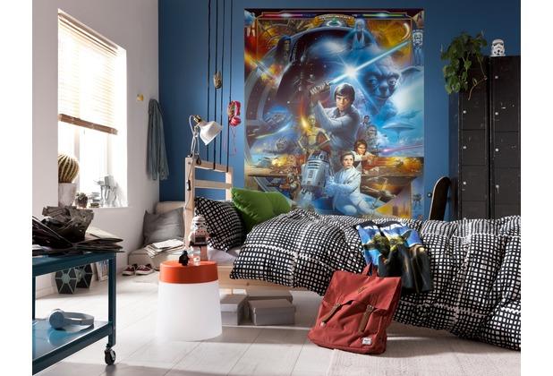 komar fototapete star wars luke skywalker collage. Black Bedroom Furniture Sets. Home Design Ideas