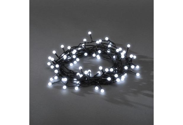 KONSTSMIDE LED Lichterkette rund mit 24V Außentrafo, 80 Lichter kalt ...