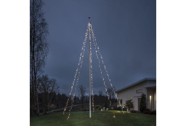 KONSTSMIDE LED Lichtermantel mit Ring, für Fahnenmast, 5 Stränge ...