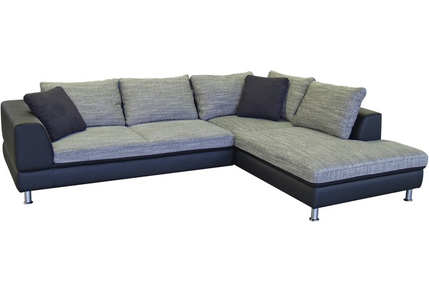 l sofa augsburg 3sitzer links ottomane rechts weiss grau. Black Bedroom Furniture Sets. Home Design Ideas