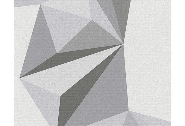 lars contzen mustertapete origami tapete signalgrau telegrau moosgrau. Black Bedroom Furniture Sets. Home Design Ideas