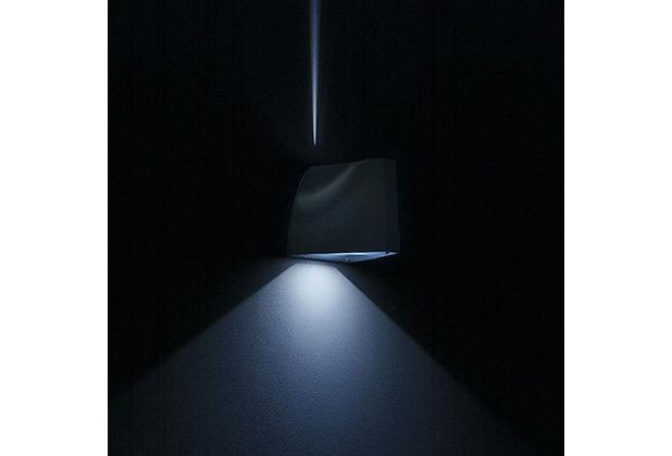 licht trend led au en wandleuchte alu bei hertie kaufen. Black Bedroom Furniture Sets. Home Design Ideas