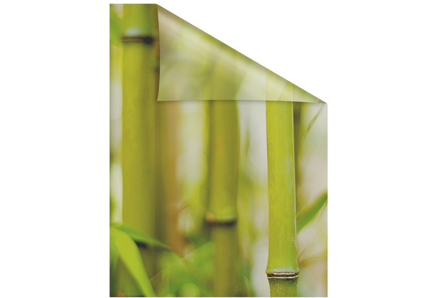 Lichtblick Fensterfolie Selbstklebend Sichtschutz Bambus Grun