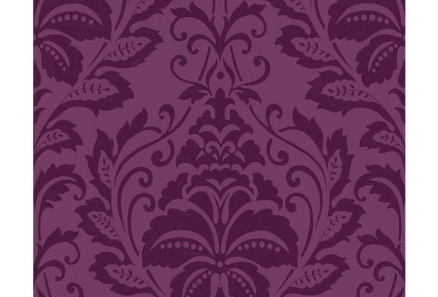 livingwalls flock 3 mustertapete barock vliestapete rot violett. Black Bedroom Furniture Sets. Home Design Ideas