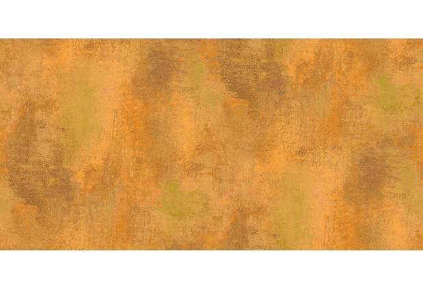 Retro Tapete Orange Braun : Mustertapete Patina, Tapete, Vintage-Optik, orange Hertie.de