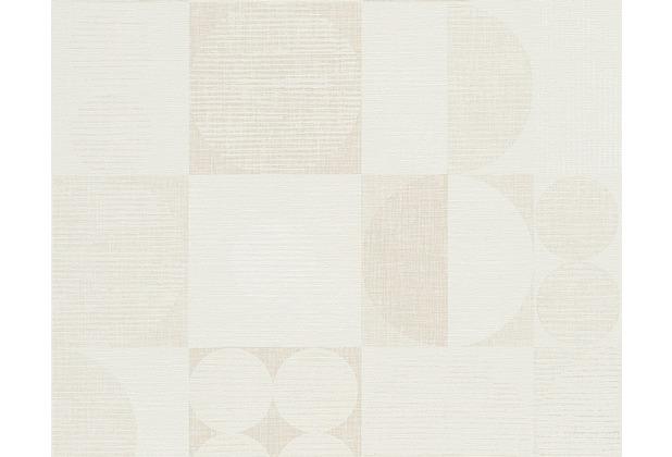 livingwalls retro mustertapete titanium tapete beige braun creme. Black Bedroom Furniture Sets. Home Design Ideas