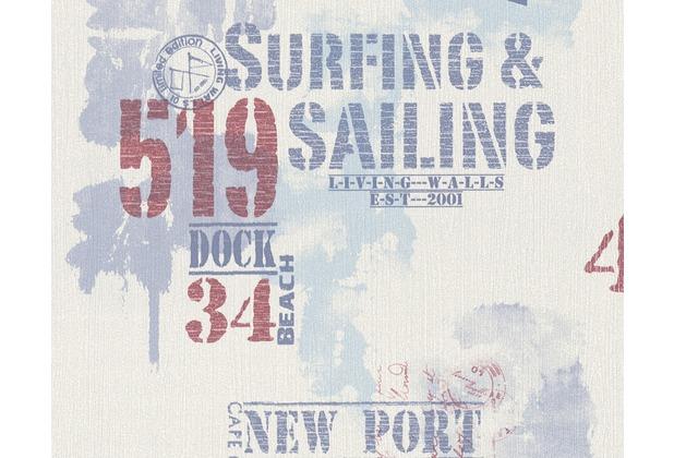 Livingwalls Surfing Sailing Hochwertige Mustertapete New Port