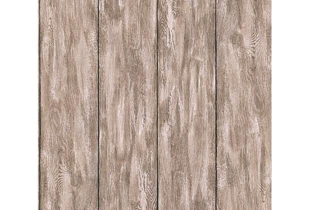 Livingwalls Vliestapete Neue Bude 2.0 Tapete In Holz Optik Grau Beige Braun  10,05 M X
