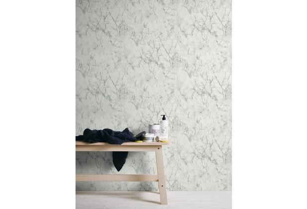 Livingwalls Vliestapete Neue Bude 2.0 Tapete In Marmor Optik Weiß Grau  10,05 M X 0
