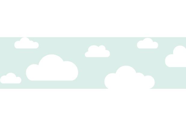 Lovely Label Selbstklebende Bordüre Wolken Mint | Hertie.de