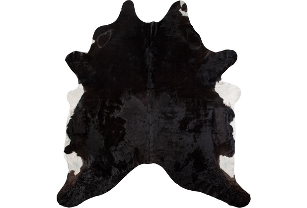 luxor living teppich rinderfell schwarz gemustert. Black Bedroom Furniture Sets. Home Design Ideas