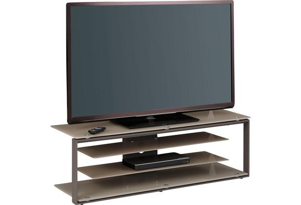 Maja Möbel Tv Rack Metall Anthrazit Glas Sand 1300 X 420 X 400 Mm