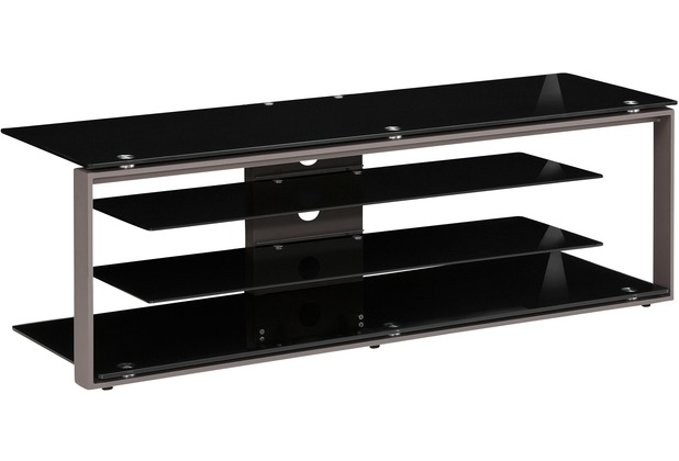 maja m bel tv rack metall anthrazit schwarzglas 1300 x. Black Bedroom Furniture Sets. Home Design Ideas