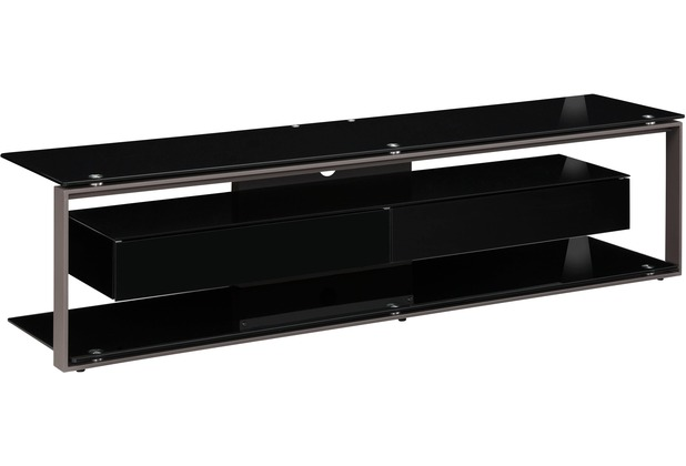 maja m bel tv rack metall anthrazit schwarzglas 1700 x 420 x 400 mm. Black Bedroom Furniture Sets. Home Design Ideas