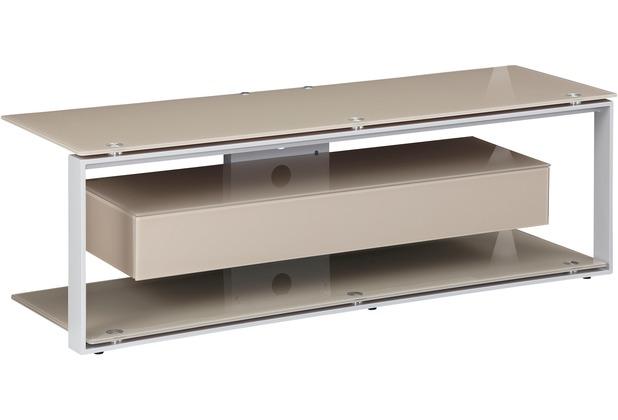 Maja Möbel Tv Rack Metall Platingrau Glas Sand 1300 X 420 X 400 Mm