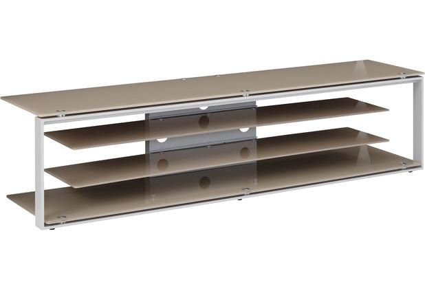 Maja Möbel Tv Rack Metall Platingrau Glas Sand 1700 X 420 X 400 Mm