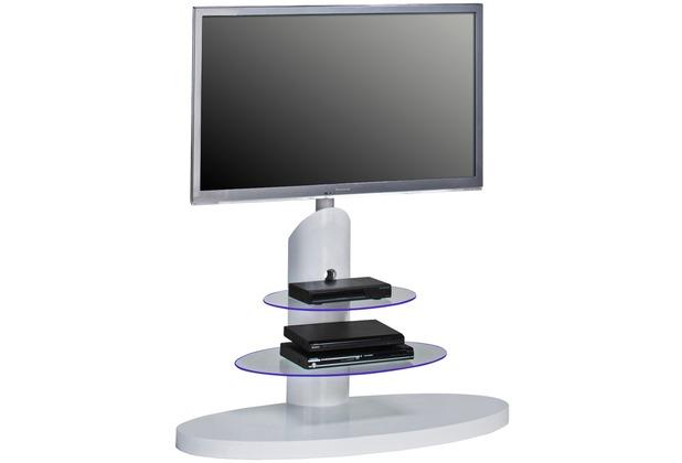 MAJA Möbel TV-Rack weiß Hochglanz - Klarglas 1100 x 1315 x 470 mm