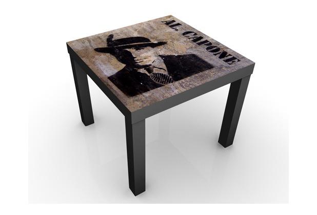 apalis design tisch al capone 55x45x55cm beistelltisch schwarzer tisch. Black Bedroom Furniture Sets. Home Design Ideas