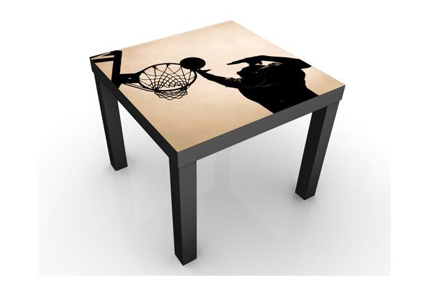 Apalis design tisch basketball 55x45x55cm beistelltisch for Schwarzer tisch