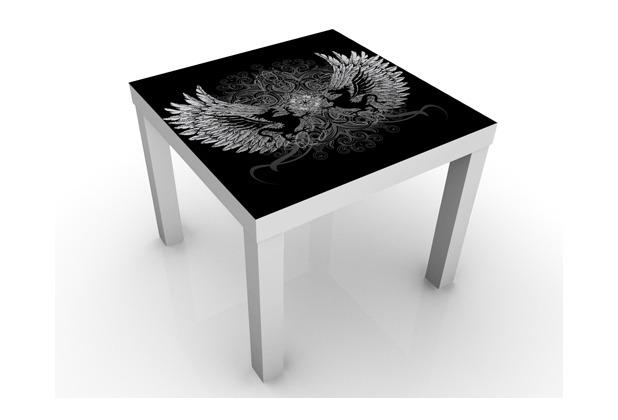 apalis design tisch drachenfl gel 55x45x55cm wei er tisch. Black Bedroom Furniture Sets. Home Design Ideas