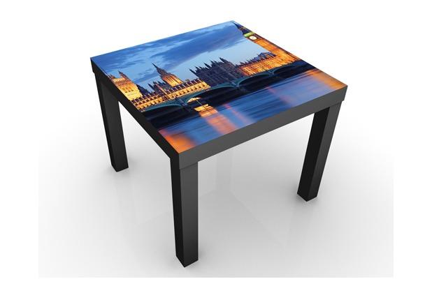 Apalis design tisch london bei nacht 55x45x55cm schwarzer for Schwarzer schuhschrank