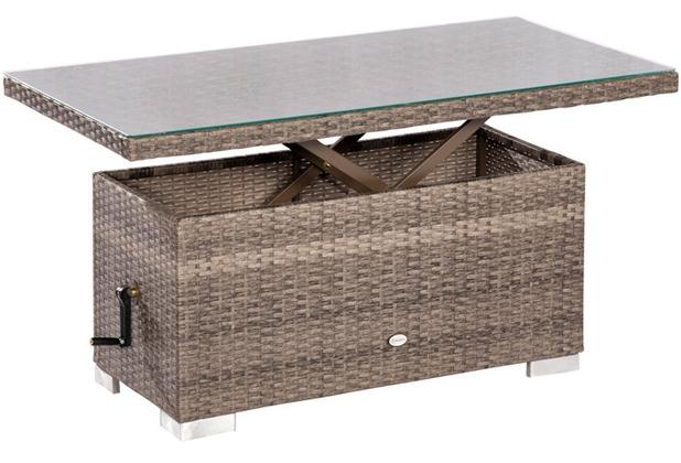 Merxx Bari Tisch Höhenverstellbar 120 X 60 X 4568 Cm Graues