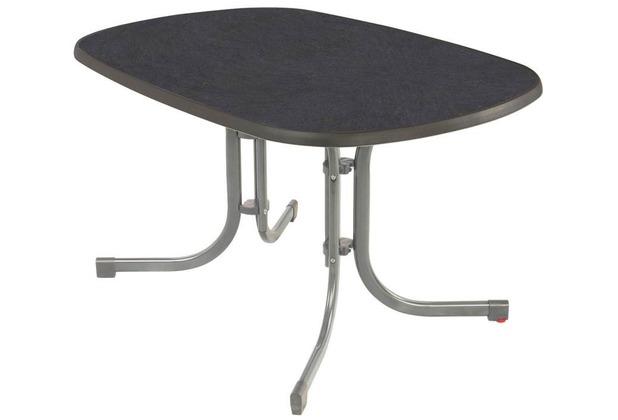 Mfg Gartentisch 150x90cm Silber Schiefer Dekor Hertie De