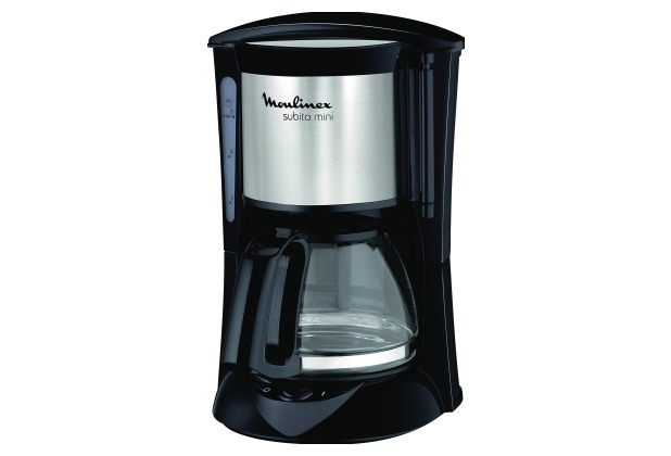 Moulinex FG1508-11 Edelstahl-Schwarz Filter-Kaffeemaschine 650 Watt Glaskanne
