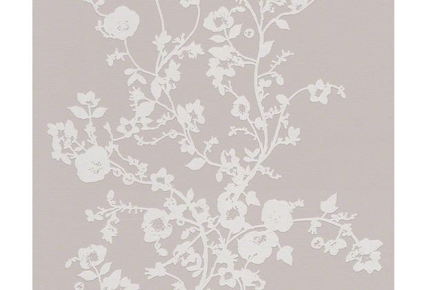 NAF-NAF Mustertapete, Vliestapete, floral, beige, weiss ...
