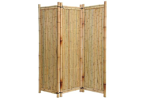 Noor bambus paravent deluxe ca gr e hxb 180 x 180 cm 3 for Paravent bambus