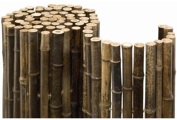 Noor Bambusmatte Black Bambus Sichtschutz Zaun Balkon Ca. Größe