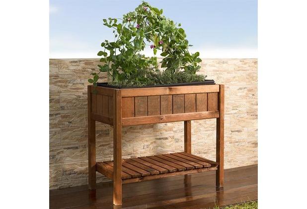 Noor Hochbeet Provence 76x80x40cm Fruhbeet Tisch Holz Hertie De