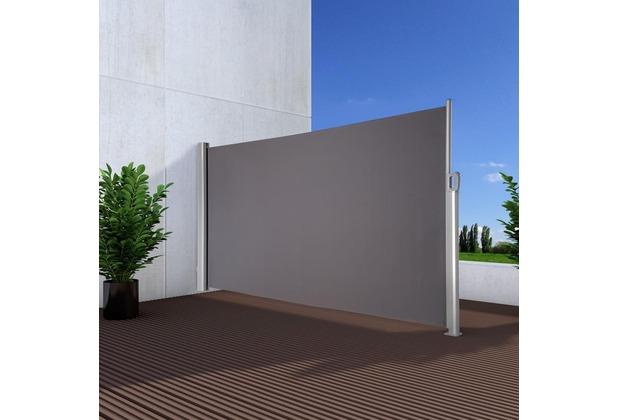 noor seitenmarkise exklusiv 180x350 cm anthrazit. Black Bedroom Furniture Sets. Home Design Ideas