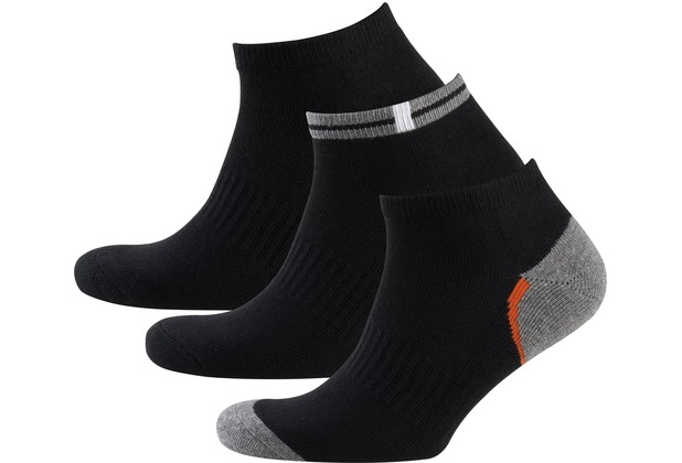 nur der herren sneaker socken sport 3er schwarz. Black Bedroom Furniture Sets. Home Design Ideas