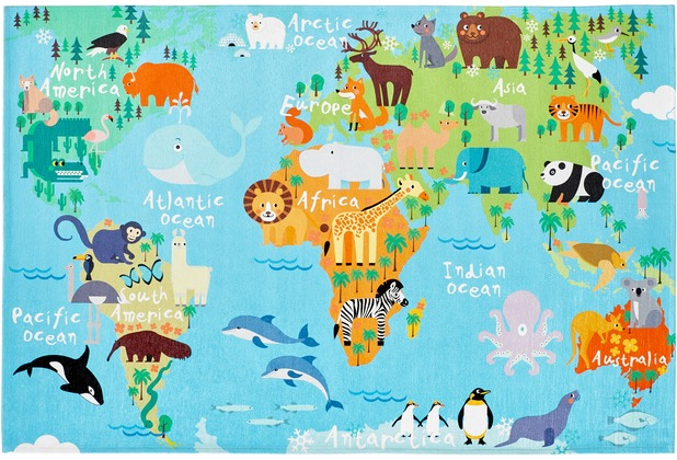 Obsession Teppich My Torino Kids 233 world map | Hertie.de