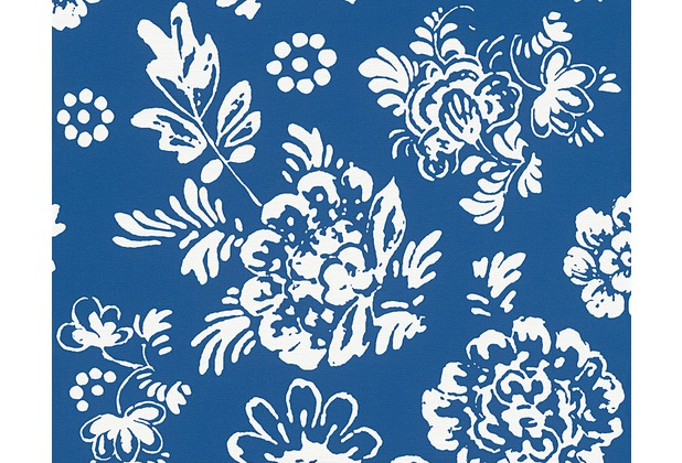 Oilily home mustertapete oilily atelier tapete blau for Tapete muster blau