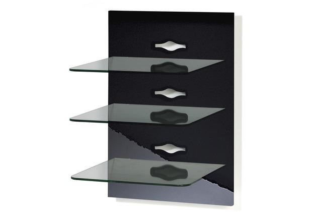 paneelserie xeno 3 schwarzlack klarglas. Black Bedroom Furniture Sets. Home Design Ideas