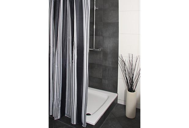 pier 36 duschvorhang textil noir. Black Bedroom Furniture Sets. Home Design Ideas