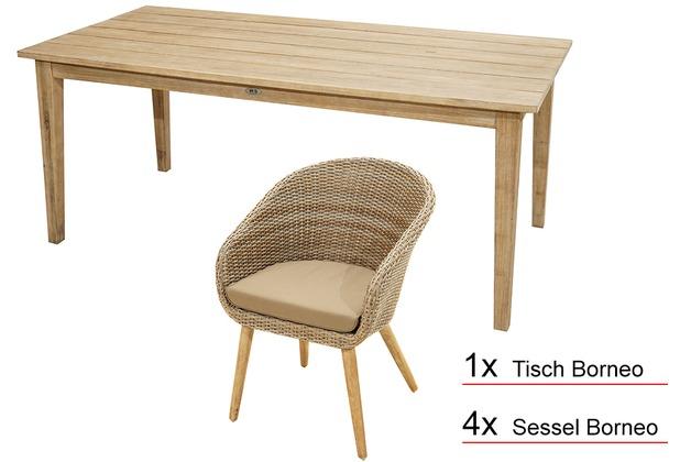 Gartenmöbel Set Holz Teilig ~ Gartenmöbel set amsterdam kiefer sitzer teilig grau bei